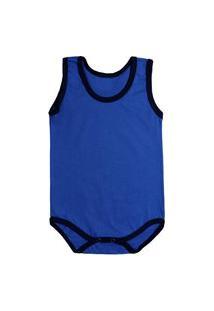 Body Azul Royal Regatinha Básica De Malha Para Bebê Azul Royal