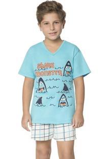 Pijama Curto Infantil Summer Chess - Masculino