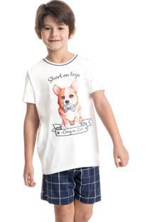 Pijama Infantil Masculino Curto Estampado Cute
