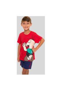 Pijama Infantil Menino Turma Da Monica Cebolinha 52040015