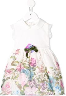 Lesy Vestido Com Estampa Floral - Branco