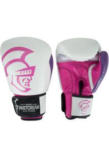 Luvas De Boxe Pretorian Elite Training - 10 Oz - Adulto - Branco/Rosa