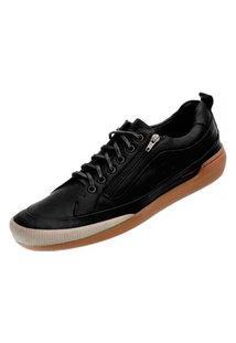Sapato Em Couro Hayabusa Z 10 Preto Solado Âmbar