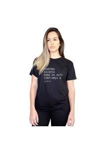 Camiseta Boutique Judith Leoninas Preto