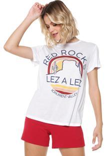 Camiseta Lez A Lez Estampada Branca - Kanui