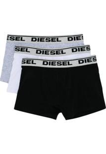 Diesel Kids Conjunto 3 Cuecas Com Logo - Estampado