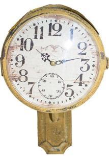 Relógio Par Ferro Amarelo Tp Sinal Oldway 38X32X21