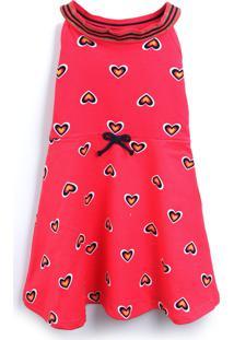 Vestido Kyly Coração Rosa