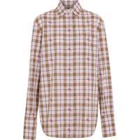 Burberry Camisa Xadrez Fil Coupé - Rosa a17d5972897ea
