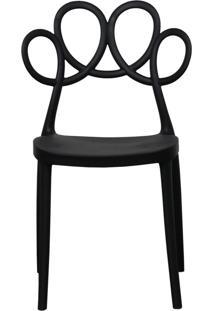 Cadeira Decorativa Para Cozinha Laço Preto - Gran Belo
