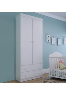 Guarda-Roupa De Bebe 2 Portas 2 Gavetas Bambole Branco - Multimóveis