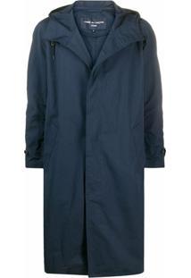 Comme Des Garçons Homme Concealed Front Parka Coat - Azul