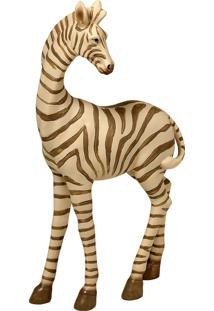 Escultura Decorativa De Resina Zebra Savah Pequena