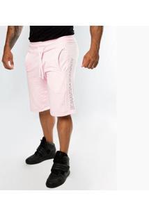 Bermuda Top Fit Moletom Zayon Masculina - Masculino-Rosa Claro