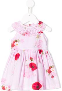 Lapin House Vestido Evasê Floral - Rosa
