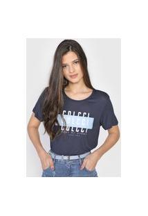 Camiseta Colcci Made Of Stars Azul-Marinho