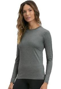 Camiseta Uvline Lycra Br - Feminino-Cinza