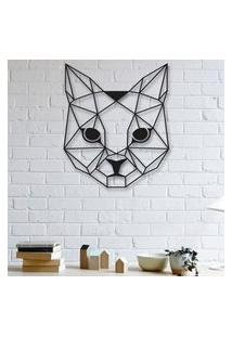 Escultura De Parede A Laser Face Cat Único