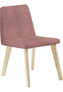 Cadeira Piqui F54-1 Veludo – Daf Mobiliário - Rosa