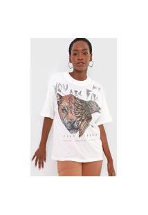 Camiseta Colcci Animal Off-White