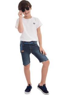 Bermuda Jeans Mrx - Masculino-Azul