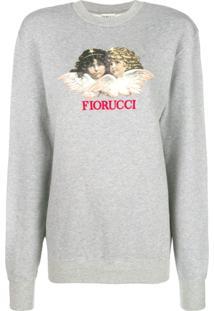 Fiorucci Blusa De Moletom Com Estampa De Anjos - Cinza 6c5b29068a2