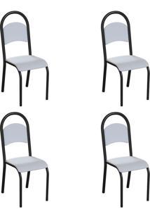 Conjunto Com 4 Cadeiras Wodon Branco E Preto