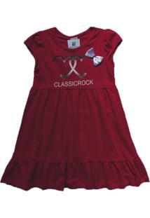 Vestido Infantil Moletom Manabana Verão Vermelho