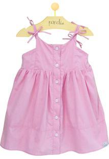 Vestido Pandi Lacinhos Rosa