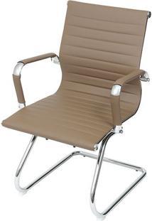 Cadeira Office Eames Esteirinha- Fendi & Prateada- 8Or Design