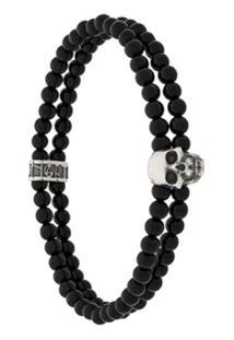 Northskull Bracelete Com Caveira - Preto