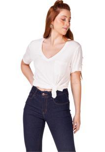 Camiseta Básica Com Bolso Serinah - Off White