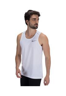 Camiseta Regata Nike Dry Miler - Masculina - Branco/Cinza Claro