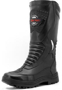 Bota Motociclista / Militar Atron Shoes 297 Semiimpermeavel