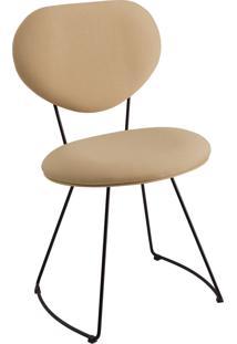 Cadeira Milao Aço T1073 Linho Daf Bege