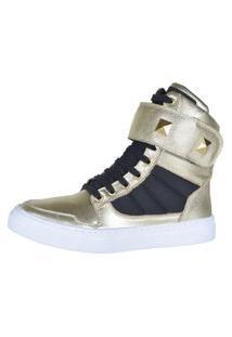 Sneaker Fitness Cheia De Marra 1003 Dourado