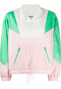 Sjyp Colour-Block Pullover Jacket - Rosa