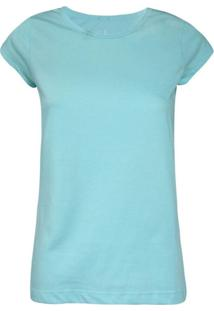 Camisetas Khelf Camiseta Feminina Manga Curta Azul