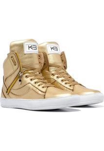 Sneaker K3 Fitness Pretty Dourado