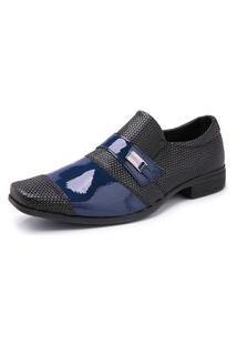 Sapato Social Masculino Verniz Schiareli Azul