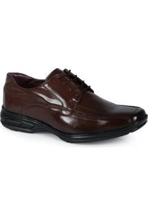 Sapato Social Masculino Parthenon Cadarço Marrom