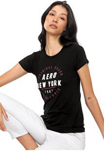 Camiseta Aeropostale New York Preta