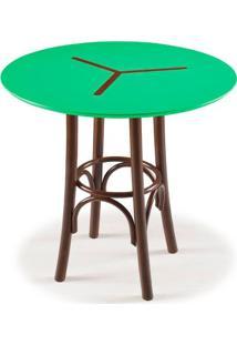 Mesa Bistro Opzione Baixa Cor Imbuia Com Verde Anis - 29052 Sun House
