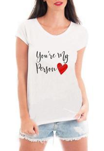 Camiseta Criativa Urbana My Person - Feminino-Branco