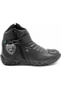 Bota Atron Shoes Motociclista Couro - Masculino