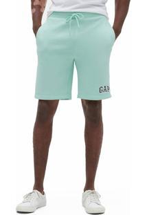 Bermuda Gap Reta Logo Verde - Verde - Masculino - Dafiti