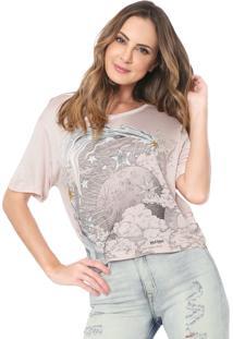 Camiseta Lez A Lez Estampada Rosa