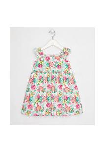 Vestido Infantil Em Viscose Estampa Floral - Tam 1 A 5 Anos | Póim (1 A 5 Anos) | Multicores | 03