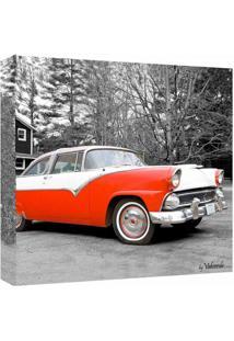 Quadro Impressão Digital Carro Vermelho 30X30Cm Uniart