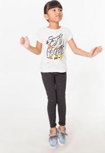 Camiseta Infantil Mais Recreio Reserva Mini Feminina - Feminino-Off White
